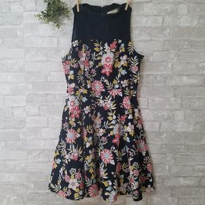 Anthropologie Moulinette Soeurs navy floral dress